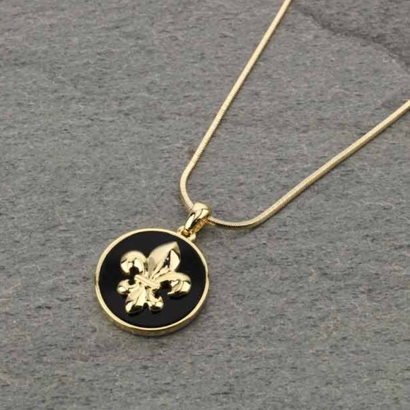 Discount Jewelry | Fleur De Lis Pendant Necklace New Orleans Saints | Poshmark  for cheap